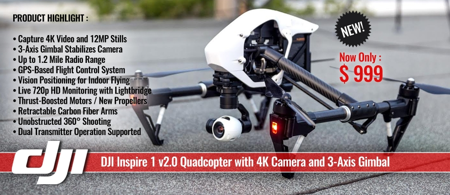DJI Inspire 1 v2.0 Quadcopter with 4K Camera and 3-Axis Gimbal