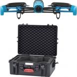 parrot bebop drone quadcopter with hard case bundle (blue)
