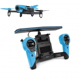 parrot bebop drone quadcopter with skycontroller bundle (blue)