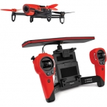 parrot bebop drone quadcopter with skycontroller bundle (red)