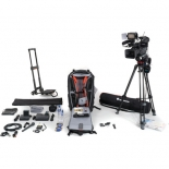 sony pxw-x200 video journalist kit with backpack, trolley, wireless microphone system, and tripod.1