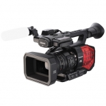 panasonic ag-dvx200 4k handheld camcorder with four thirds sensor and integrated zoom lens.1
